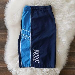 B2G1 Boy's NIKE Logo Navy Blue Board Shorts